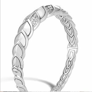 John Hardy Diamond Dragon Scale Flex Cuff Bracelet
